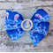 "FROZEN 3"" Bow Hair Clip with Rhinestone Center"