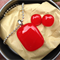 Red Fused Glass Pendant and Earrings Set