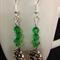Green Wreath Christmas Earrings