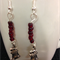 Red Bead stocking Earrings