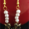 White Bead Rocking Horse Earrings