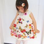 No-Sleeve A-line Tops, Flower, Butterflies, Rabbits, Deer, Doily Prints