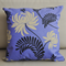 Zippered cotton Cushion covers - Purple blue swirl floral decorative prints