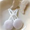 Stunning white button snap clips.  Set of two.