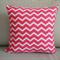 Zippered cotton Cushion covers Raspberry Pink Chevron cushions