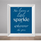 She leaves a little sparkle print, sparkly poster, cute kids artwork wall decor