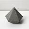 Handmade diamond concrete gem / sculpture / paperweight - Small size