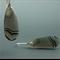 Striped Agate Sterling Silver Earrings