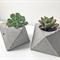 Handmade Octahedron concrete planter/ candle holder