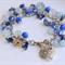 Sodalite, Aquamarine & Moonstone Love & Beloved Charm Bracelet