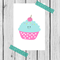 cute cupcake print