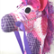 HOBBY HORSE -Giddy - Purple and Pink retro checks