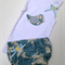 Nappy Cover and Singlet - Blue Bird size 000
