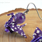 Purple Japanese Origami Crane Earrings