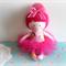 Little Babushka Ballerina  - Handmade Soft Cloth Doll