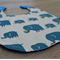 Large Bib Blue Elephants