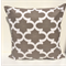 Brown & White Moroccan Cushion Cover - Retro Cushions 50 x 50