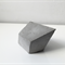 Handmade square trapezohedron concrete gem / sculpture / paperweight