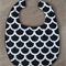 Large Bib Black with white scallop
