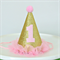 MINI Glitter Party Hat / Headband - 1st Birthday - Gold and Pink