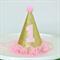 MINI Glitter Party Hat / Headband - 1st Birthday - Gold and Pink