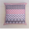 Pink & Grey Elephant Cushion Cover for Nursery, Bed or Lounge