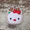 """2"""" Hello Kitty Christmas Reindeer Hair Clip"""