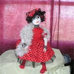 Collectable Sculptured Cloth Doll