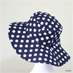 Ladies Polka Dot Floppy Sunhat