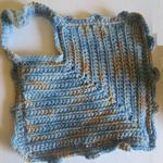 Pot handler crochet blue