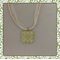 Glass Tile Necklace - Leaf Design