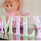 7 inch decorated wooden letters for nursery and child's room