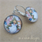 Christmas Earrings - Vintage Style children dancing around the Christmas Tree