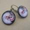 Christmas earrings - Vintage style Father Christmas (Santa/St Nick)