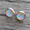 Glass dome stud earrings - Summer pastals