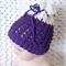 Textured Scrunch Hat / Beanie 3-6 Months / Merino/ Photography Prop / Purple