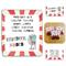 Printable Vintage inspired Christmas Reindeer Noses Label