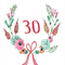 Birthday card rustic 30 floral pretty chic made in melbourne