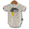 SIZE 0000 Handmade Baby Bodysuit... Storm Cloud