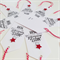 Wonderful time of the year hand stamped red glitter star & twine tags set of 8