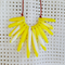 Fan shaped yellow marbled necklace