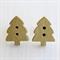 Gold Christmas Tree Earrings