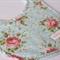 Handmade Baby Bib - Roses on Blue