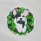 Pied French Bulldog Christmas Ornament