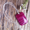 Crimson Vein Jade Gemstone Pendant & Sterling Silver Necklace