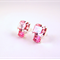 Rose Swarovski crystal geometric post stud earrings pink light pastel