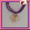 Glass Tile Necklace - Floral Post Mark
