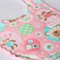 Handmade Baby Bib - Teddy Bear Pink