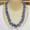 Blue Glass Pearl Crochet Wire Beaded Handmade OOAK Necklace by Top Shelf