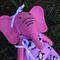 Small Pink Felt Elephant